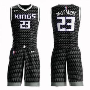 Nike NBA Maillots De Basket McLemore Kings Suit Statement Edition Homme #23 Noir