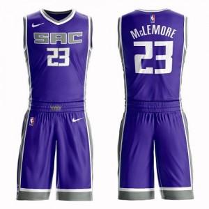 Nike NBA Maillot De McLemore Sacramento Kings No.23 Suit Icon Edition Enfant Violet