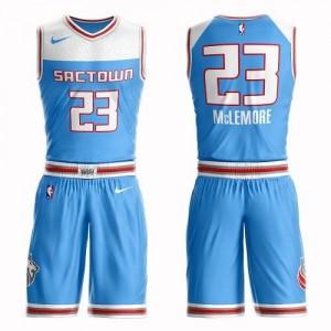 Nike Maillots De Ben McLemore Kings Enfant #23 Bleu Suit City Edition