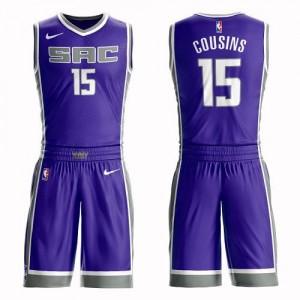 Nike Maillot Basket Cousins Kings Violet No.15 Enfant Suit Icon Edition