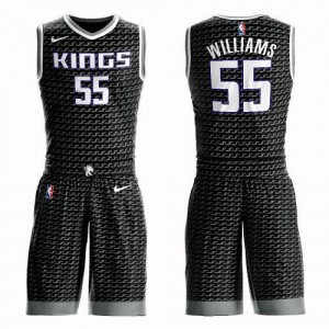 Nike Maillots Jason Williams Kings #55 Suit Statement Edition Homme Noir