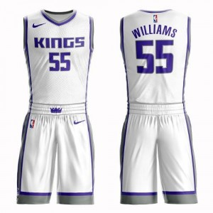 Nike NBA Maillot De Jason Williams Kings Blanc Suit Association Edition #55 Enfant