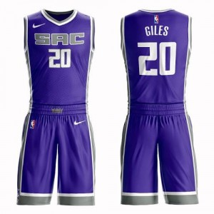 Nike Maillot De Harry Giles Sacramento Kings Violet Suit Icon Edition No.20 Homme