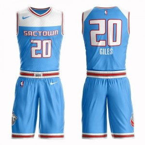 Maillots Harry Giles Kings Nike Suit City Edition Bleu No.20 Homme