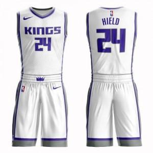 Nike NBA Maillot De Hield Sacramento Kings Enfant Blanc #24 Suit Association Edition