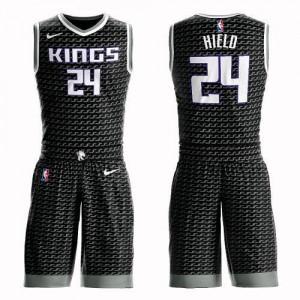 Nike NBA Maillot Basket Buddy Hield Sacramento Kings Noir Enfant No.24 Suit Statement Edition