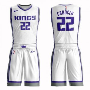 Maillot De Caboclo Kings No.22 Homme Blanc Suit Association Edition Nike
