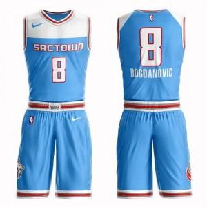 Nike NBA Maillots De Bogdan Bogdanovic Sacramento Kings Enfant Bleu #8 Suit City Edition