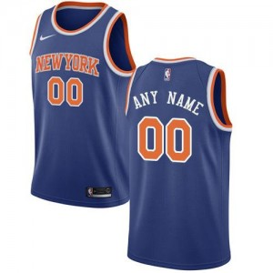 Maillot Personnalisable Basket New York Knicks Icon Edition Homme Bleu royal Nike
