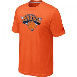T-Shirt Basket Knicks Big & Tall Primary Logo Orange Homme