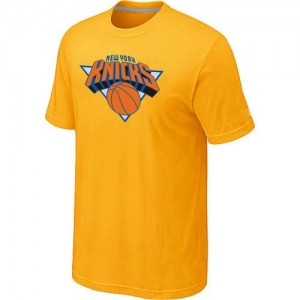 T-Shirt New York Knicks Jaune Big & Tall Primary Logo Homme
