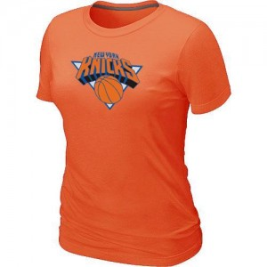 NBA T-Shirt Basket Knicks Femme Big & Tall Primary Logo Orange