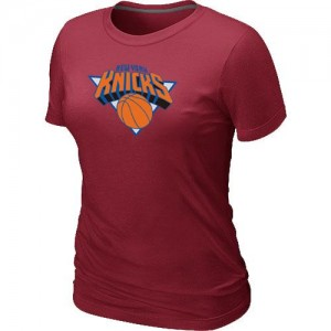 T-Shirt De Basket New York Knicks Rouge Femme Big & Tall Primary Logo
