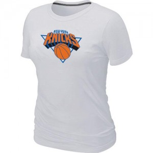 T-Shirt Knicks Big & Tall Primary Logo Femme Blanc