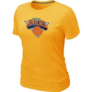 NBA Tee-Shirt De Basket Knicks Femme Big & Tall Primary Logo Jaune
