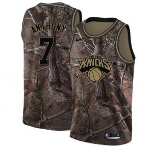 Nike NBA Maillots De Basket Anthony Knicks #7 Realtree Collection Camouflage Homme