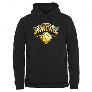Sweat à capuche De Basket New York Knicks Homme Noir Gold Collection Pullover