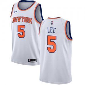 Nike Maillot De Lee New York Knicks Blanc Association Edition Enfant #5