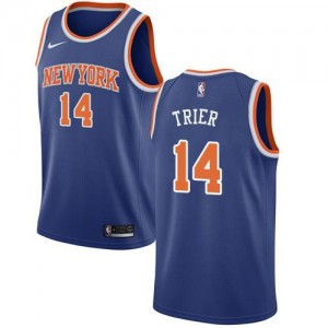 Nike NBA Maillots Allonzo Trier Knicks Enfant No.14 Bleu royal Icon Edition