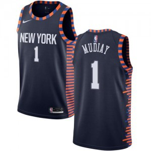 Nike Maillots Emmanuel Mudiay New York Knicks bleu marine Enfant 2018/19 City Edition #1
