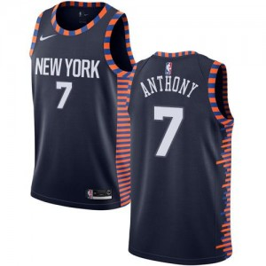 Nike NBA Maillot De Basket Carmelo Anthony Knicks bleu marine 2018/19 City Edition #7 Enfant