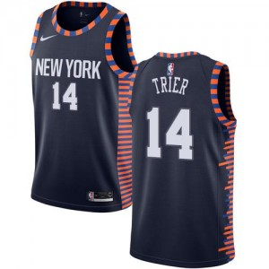 Nike Maillots Basket Trier Knicks 2018/19 City Edition Enfant bleu marine No.14