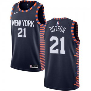 Maillots Dotson New York Knicks No.21 bleu marine Enfant 2018/19 City Edition Nike