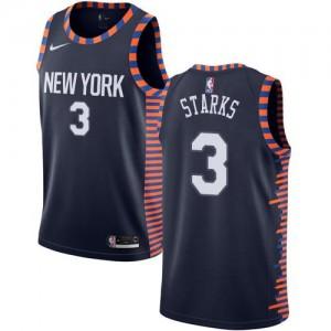 Nike Maillot De Starks New York Knicks Homme #3 bleu marine 2018/19 City Edition
