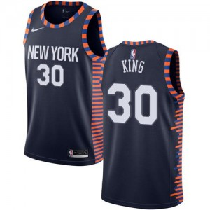 Nike Maillots De Basket King Knicks bleu marine No.30 Enfant 2018/19 City Edition
