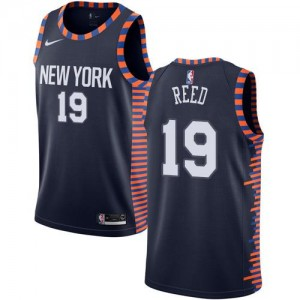 Nike Maillots Willis Reed New York Knicks #19 2018/19 City Edition bleu marine Enfant
