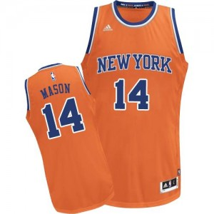 Maillots Basket Mason Knicks Adidas #14 Orange Homme