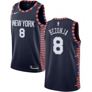 Nike NBA Maillots De Mario Hezonja New York Knicks No.8 2018/19 City Edition Enfant bleu marine