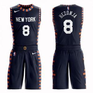 Nike NBA Maillots Hezonja New York Knicks Suit City Edition bleu marine #8 Enfant