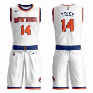 Maillots De Allonzo Trier Knicks Blanc Enfant Suit Association Edition Nike No.14