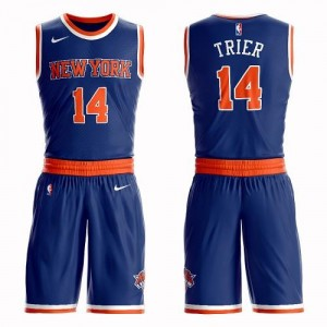 Nike NBA Maillot Basket Trier New York Knicks Enfant Bleu royal Suit Icon Edition No.14