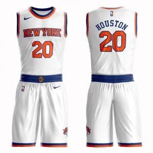 Nike NBA Maillot Basket Allan Houston Knicks Suit Association Edition Blanc Homme No.20