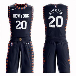 Nike NBA Maillots De Allan Houston Knicks Homme Suit City Edition bleu marine #20
