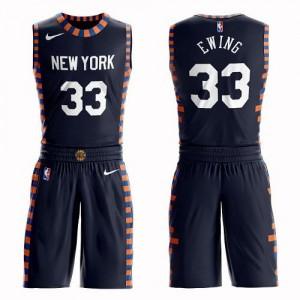Maillot Basket Patrick Ewing New York Knicks No.33 Suit City Edition Enfant bleu marine Nike