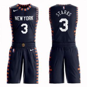Maillots De Starks Knicks Suit City Edition No.3 bleu marine Nike Homme