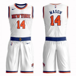 Nike NBA Maillots De Mason Knicks Homme Suit Association Edition Blanc No.14