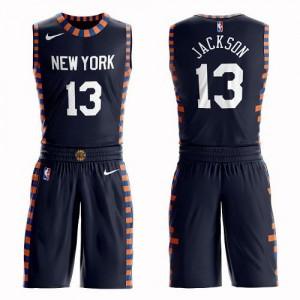 Nike NBA Maillot Mark Jackson Knicks No.13 bleu marine Suit City Edition Enfant