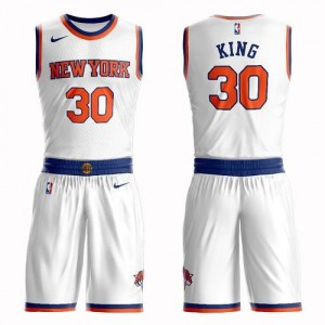 Nike Maillots De King New York Knicks No.30 Homme Suit Association Edition Blanc
