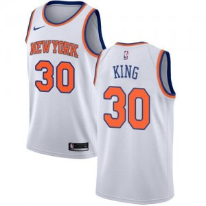 Nike Maillot Bernard King Knicks Association Edition No.30 Blanc Homme