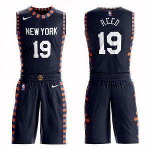 Maillots De Basket Reed Knicks bleu marine Nike Suit City Edition No.19 Enfant