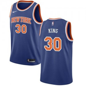 Nike Maillot De Basket King New York Knicks Icon Edition Homme Bleu royal No.30