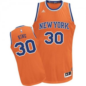 Maillot Basket King Knicks Homme No.30 Orange Adidas