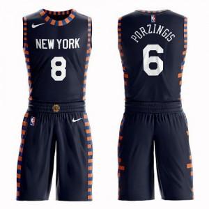 Maillot Porzingis Knicks #6 bleu marine Nike Suit City Edition Enfant