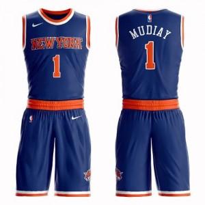 Maillot Basket Mudiay Knicks No.1 Suit Icon Edition Enfant Bleu royal Nike