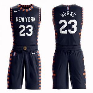 Maillot Basket Trey Burke New York Knicks Suit City Edition Nike Enfant bleu marine No.23