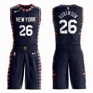 Maillot De Basket Robinson Knicks #26 Enfant Suit City Edition Nike bleu marine